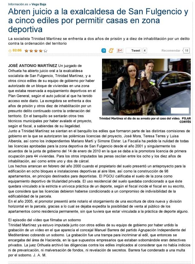 Abren juicio a la exalcaldesa de San Fulgencio y a cinco ediles por permitir casas en zona deportiva - Informacion-page-001